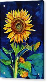 Midnight Sunflower Acrylic Print