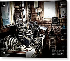 Look Into The Shop Acrylic Print by Ruth Jolly