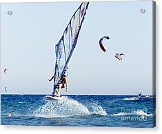 Look No Hands Acrylic Print by Stelios Kleanthous