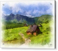 Look To The Hills Acrylic Print