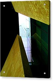 Look Up Mint Uptown Acrylic Print by Randall Weidner