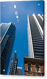 Look Up To The Sky - Skyscrapers In Sydney Australia Acrylic Print