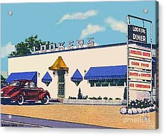 Lookers Diner In Rutland Vt Around 1940 Acrylic Print