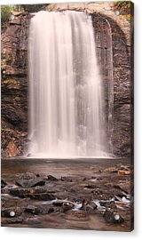 Acrylic Print featuring the photograph Lookging Glass Falls by Tyson and Kathy Smith