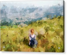 Looking At Hk From The Hills Acrylic Print by Yury Malkov