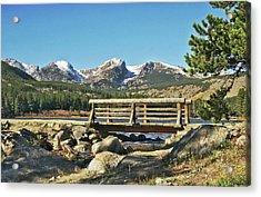 Looking At Longs Peak Colorado Acrylic Print