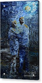Looking At The Moon Acrylic Print by Roni Ruth Palmer