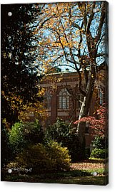 Looking Back At The Martin Chemistry Lab - Davidson College Acrylic Print by Paulette B Wright