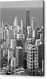 Looking Down At Beautiful Chicago Acrylic Print