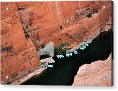 Looking Down At Glen Canyon  Acrylic Print