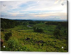 Looking Down On Devils Den Acrylic Print by William Fox