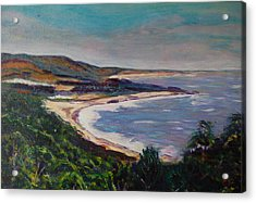 Looking Down On Half Moon Bay Acrylic Print by Carolyn Donnell