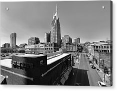 Looking Down On Nashville Acrylic Print by Dan Sproul