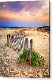 Looking Down The Beach Acrylic Print