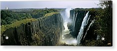 Looking Down The Victoria Falls Gorge Acrylic Print by Panoramic Images