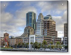 Acrylic Print featuring the photograph Looking Downtown by Kate Brown