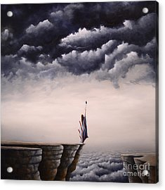 Looking For A Vision Among Thunder Beings Acrylic Print by Ric Nagualero