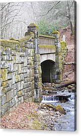 Looking Glass Creek Bridge - Vertical Acrylic Print