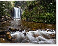 Looking Glass Falls - Blue Ridge Waterfalls Brevard Nc Acrylic Print