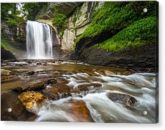 Looking Glass Falls - North Carolina Blue Ridge Waterfalls Wnc Acrylic Print by Dave Allen