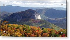 Looking Glass Rock And Fall Folage Acrylic Print