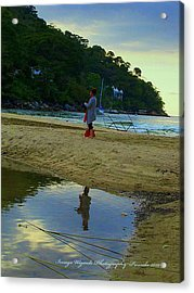 Looking Glass Stroll Acrylic Print by ARTography by Pamela Smale Williams