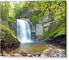 Looking Glass Waterfall In The Spring 2 Acrylic Print