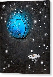 Looking In On Your World Acrylic Print by BestArtStudios Mike and Jaime Best