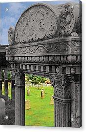 Looking Inside A Headstone Acrylic Print