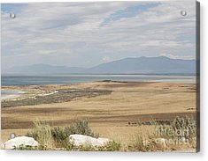 Looking North From Antelope Island Acrylic Print by Belinda Greb