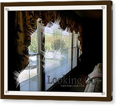 Acrylic Print featuring the digital art Looking Out by Angelia Hodges Clay