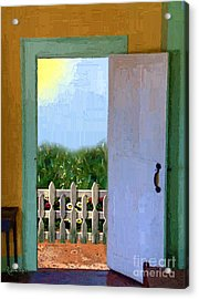 Looking Out My Back Door Acrylic Print by RC DeWinter