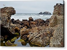 Looking Out On The Pacific Ocean From The Sutro Bath Ruins In San Francisco IIi Acrylic Print by Jim Fitzpatrick
