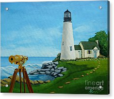 Looking Out To Sea Acrylic Print by Anthony Dunphy