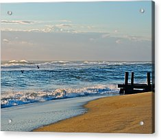 Looking Out To Sea Acrylic Print by Eve Spring