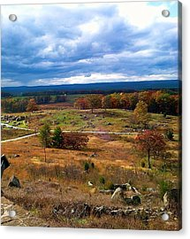 Looking Over The Gettysburg Battlefield Acrylic Print
