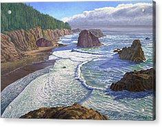 Looking South- Oregon Coast Acrylic Print by Paul Krapf