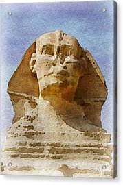 Looking Straight At The Sphinx Acrylic Print by Philip White