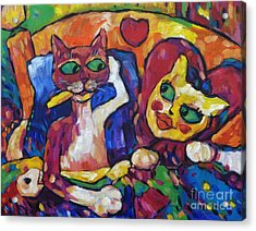Looking Swell Cats Acrylic Print