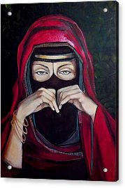 Looking Through Niqab Acrylic Print