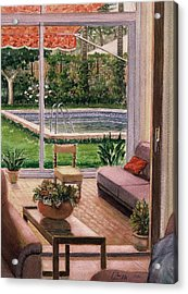 Acrylic Print featuring the painting Looking To Outside  by Laila Awad Jamaleldin
