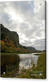 Looking Up At Crown Point Acrylic Print by Cari Gesch