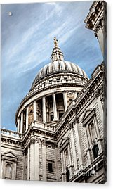 Looking Up At The Dome Of Saint Pauls Cathedral In London Acrylic Print