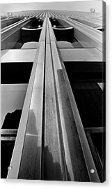 Looking-up World Trade Center Acrylic Print by Wernher Krutein