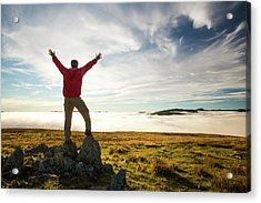 Looking West From Red Screes Acrylic Print by Ashley Cooper