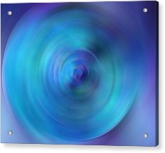 Looking Within - Energy Abstract Art By Sharon Cummings Acrylic Print by Sharon Cummings