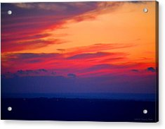 Lookout Mountain Sunset Acrylic Print by Tara Potts