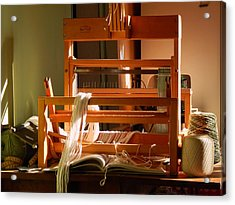 Acrylic Print featuring the digital art Loom In Winter Light by Aliceann Carlton