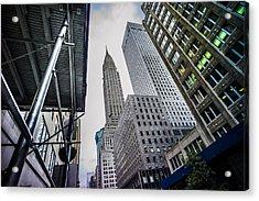 Looming Chrysler Acrylic Print by Chris Halford
