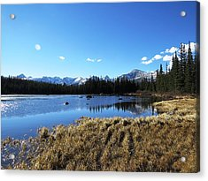 Looming Winter In The Rockies Acrylic Print